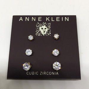 Anne Klein Jewelry - Anne Klein Sparkly 3-set Crystal Earrings [JW-33]